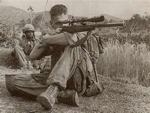 Carlos Hathcock  was a United States Marine Corps Gunnery Sergeant sniper with a service record of 93 confirmed kills