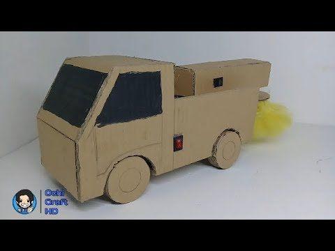 Cara Membuat Mobil Listrik Pembersih Debu Dari Kardus Menakjubkan Mobil Listrik Mobil Kardus