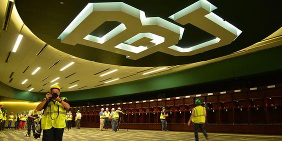 McLane Stadium locker room #SicEm