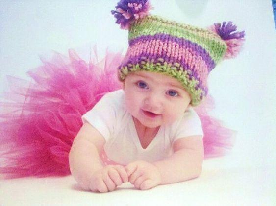 jester hat pattern: Pom, Crochet Hats, Knitterlily Hats, Knitting Patterns Baby, Pattern Baby, Hat Patterns, Baby Hats