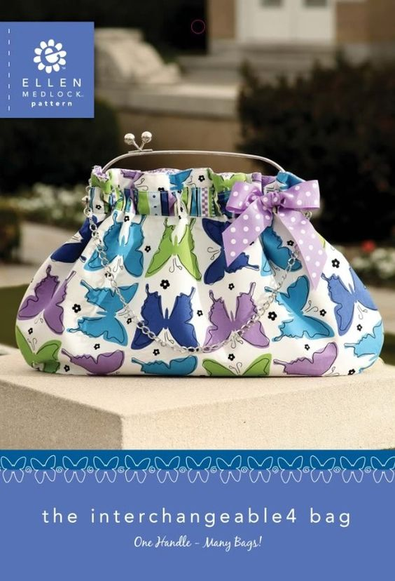 The Interchangeable 4 Bag PDF Sewing Pattern + How to Gather Fabric