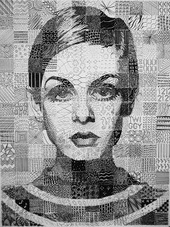 Ms. Eaton's Close to Mosaic Grid Drawings - I've done these as self portraits with my second yr kids for 14 yrs