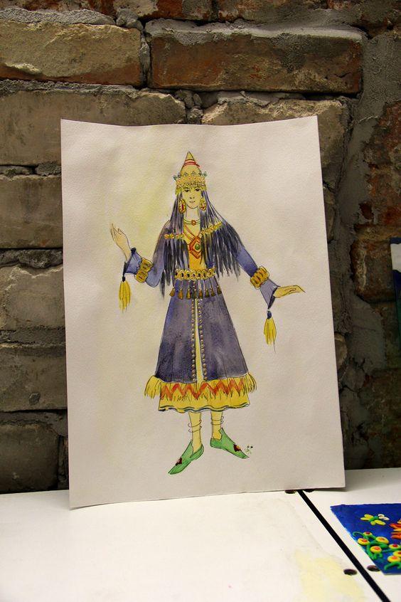 Дизайн и эскиз костюма, выполненный в Центре творчества. Фото Жени Шведы