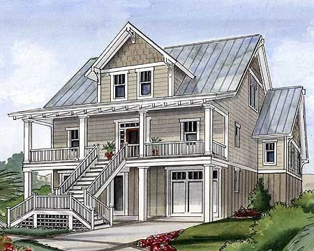 Plan 15034nc beach house plan for narrow lot house for Coastal living house plans for narrow lots