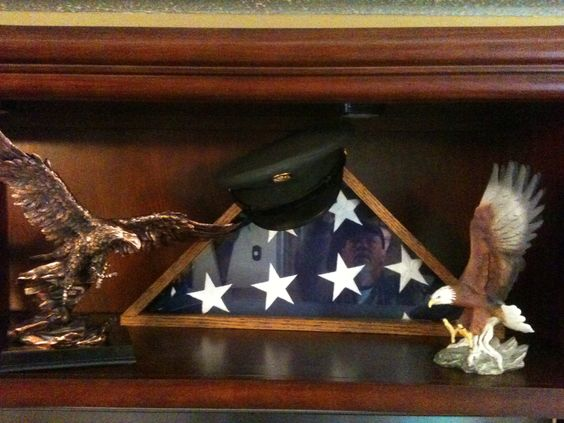 Dedicated to the memory of my sweet son Larry that went to his Heavenly home 10 yrs. ago this July! We cherish his hat and flag that rests on the mantle of my son Don's house! We were amazed when we saw Don's reflection in the flag-looking up at Larry's hat!