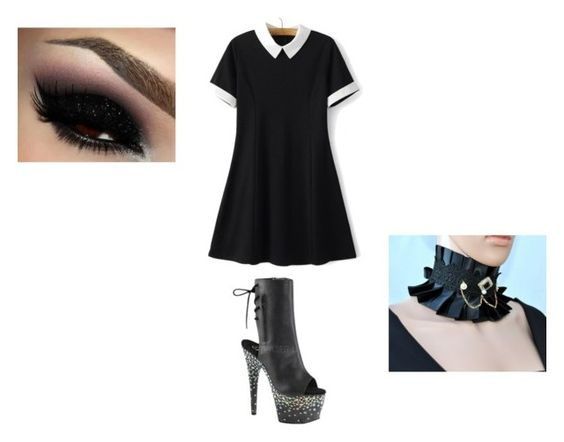 """""""Anxiety"""" by not-be-named ❤ liked on Polyvore featuring Pleaser"""