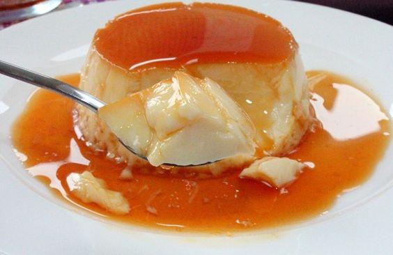 Frankreich Karamellpudding Creme Flan