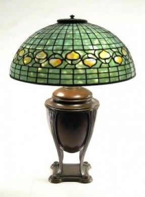 An authentic Tiffany Acorn lamp, similar to the reproduction I purchased