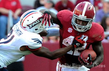 Alabama's reserve running backs receive plenty of playing time