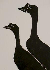 Cisnes by Andrea Gómez #art #illustration