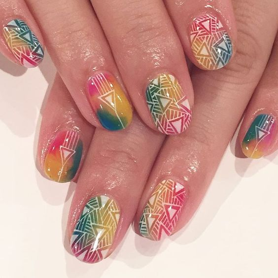 #avarice #kayo #art #nails #nailart #design #nailart #nailsalon #nailsalonavarice #psychedelic #summer #colorful