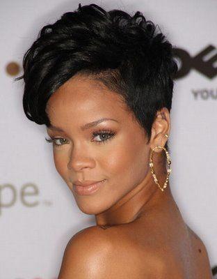 Rihanna short natural hairstyles