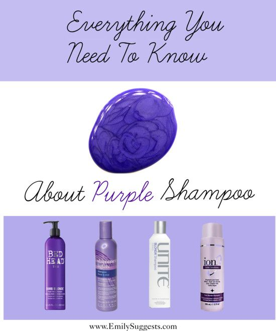 Everything You Need To Know About Purple Shampoo #emilysuggests