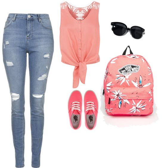 summer by abdalla-emma on Polyvore featuring Monsoon, Topshop, Vans and Oliver Peoples