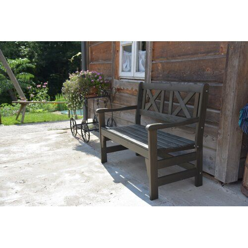 Ardilla Wooden Bench Sol 72 Outdoor Colour Taupe Grey Size H88