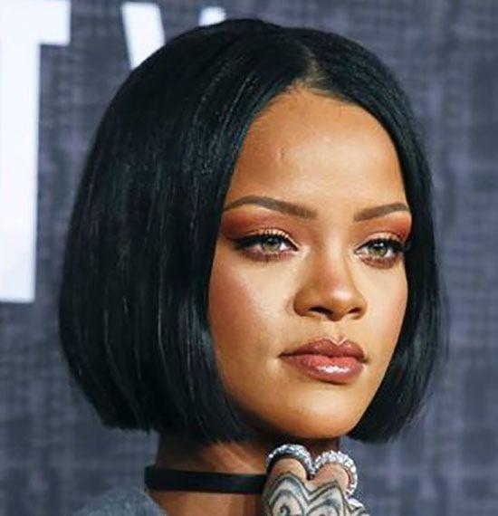 Rihanna Blunt Bob Hairstyles Howtostylebobhairstyles Bob Hairstyles Trendy Short Hair Styles Hair Styles