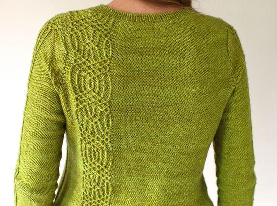 Пуловер спицами от горловины вниз с описанием и схемой