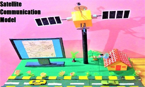 Satellite Communication Model For School Science Exhibition Science Projects For Preschoolers Science Projects Science Projects For Kids