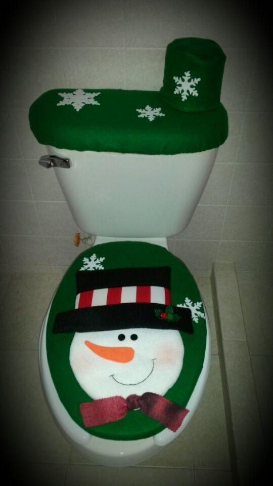 Juegos De Baño Verde:Juego de baño verde muñeco de nieve