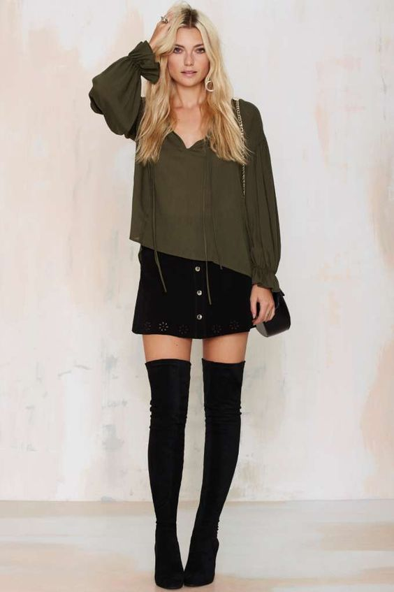 Tie It Up Oversized Blouse - Okay Focus | Shirts + Blouses
