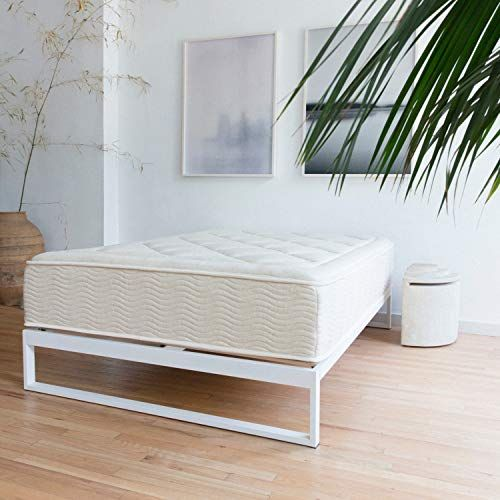 Minimo Snow White 12 Inch Metal Bed Frame Mattress Foundation Platform Bed Wood Slat Support No Boxspr Bed Frame Mattress Metal Bed Frame Steel Bed Frame