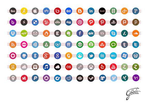 Basic Social Media Icons - Rogie King  finegoodsmarket.com