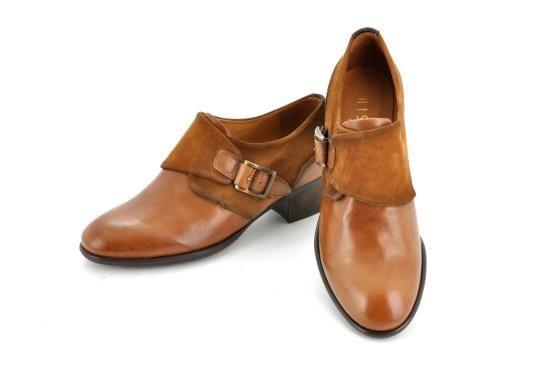 Outlet-Winter Ladies Ankle-boot-shoe HISPANITAS HI38335 TAN