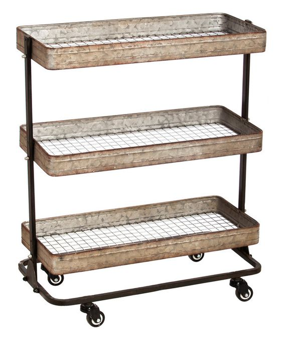 Look at this Three-Tier Wheeled Cart on #zulily today!