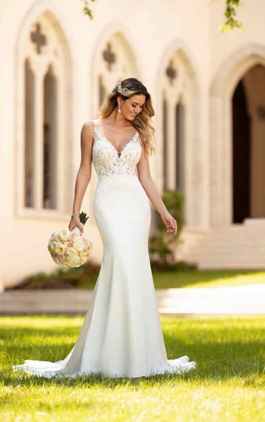 Simple And Sleek Wedding Gown Vestido