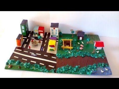 Maqueta Comunidad Rural Y Urbana Youtube Maquetas Para Ninos Maquetas Escolares Casa Maquetas Escolares