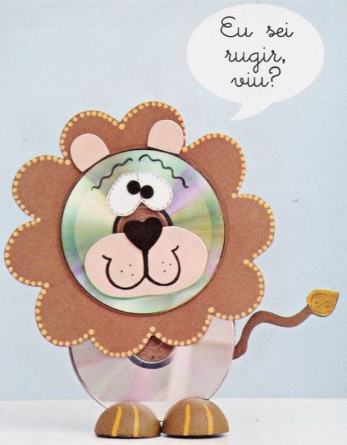 Super ! / Animais feitos com CDs reciclados - Pra Gente Miúda: Crafts With, Kids Crafts, With Cds, Cd Crafts, Craft Ideas