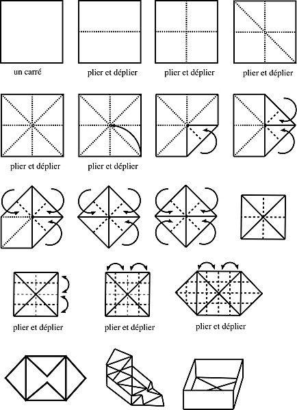 bo te origami origami pinterest origami et articles. Black Bedroom Furniture Sets. Home Design Ideas