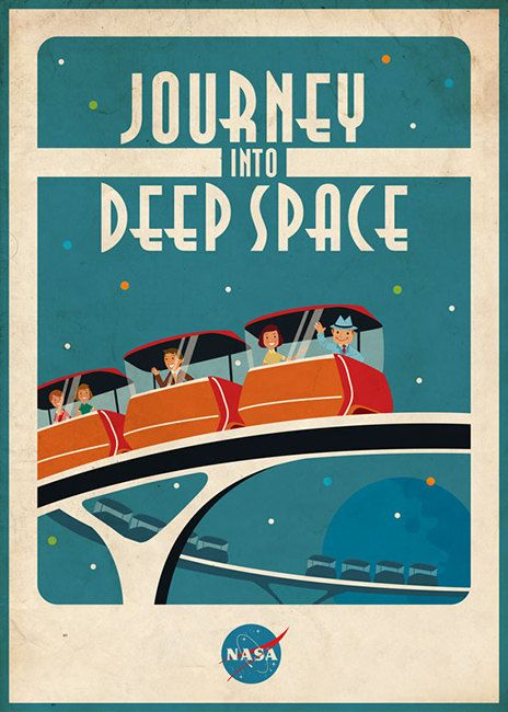 Vintage Space Poster Space Ride by artsyGalleree on Etsy