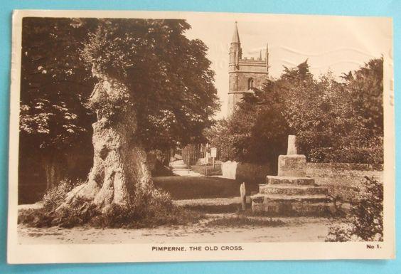 M.REEVES RP Postcard 1933 THE OLD CROSS PIMPERNE DORSET   eBay