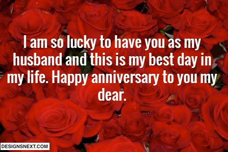Happy wedding anniversary sms for husband