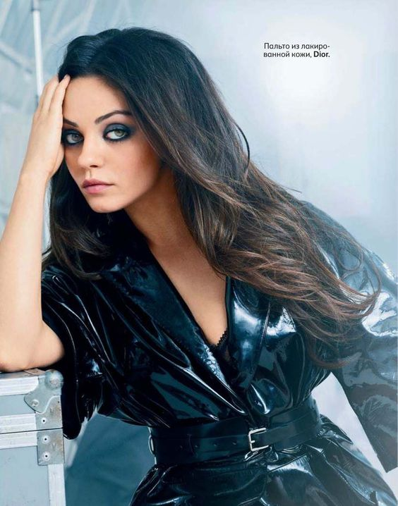 Mila Kunis - Vogue Russia by Benoit Peverelli, August 2012. Coat by Dior.