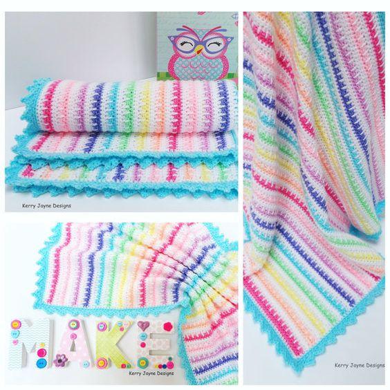 CROCHET PATTERN  Ice cream Crochet Blanket by KerryJayneDesigns