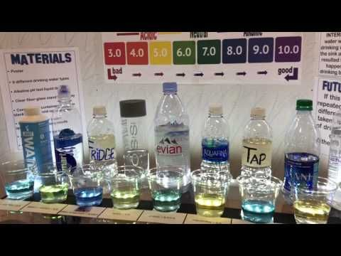 167 Middle School Science Fair Project Bottled Water Alkaline Ph Te Middle School Science Fair Projects Middle School Science Science Fair Projects Boards