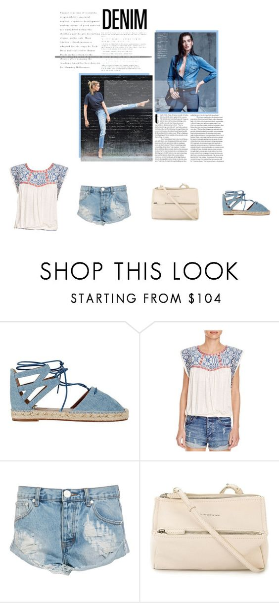 """Denim Spring Edition"" by bubbles-wardrobe ❤ liked on Polyvore featuring Aquazzura, Tularosa, One Teaspoon, Givenchy, denim and polyvorecontest"