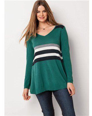 LA REDOUTE EN PLUS Asymmetric Cotton/Viscose Sweater
