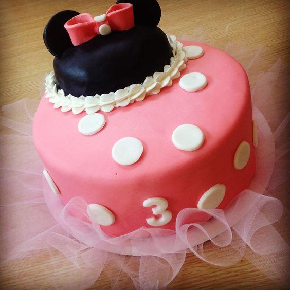 Mini mouse cake with tutu.