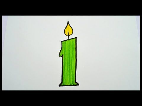 How To Draw A Candle Drawing For Kids Easy Drawing Youtube Candle Drawing Drawing For Kids Easy Drawings