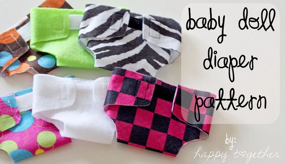 Baby Doll Diaper Pattern by ohsohappytogether, via Flickr