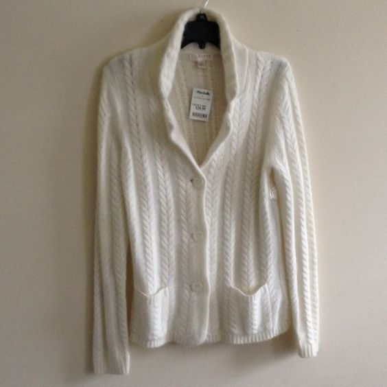 Kenar white sweater NWT   Tags, Cable knit and Cable