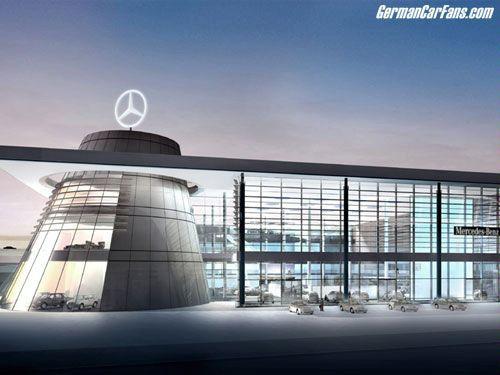Mercedes benz centers set new standards in showroom for Showroom mercedes benz