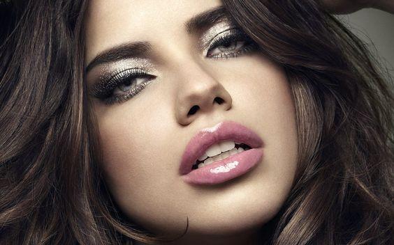 glam makeup -❤️glitter eyeshadow and gloss