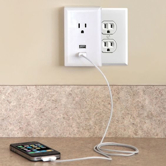 The Plug-in USB Wall Outlets | Hammacher Schlemmer