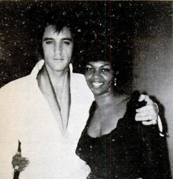 """Elvis with Cissy Houston of the """"Sweet Inspirations"""" (Cissy was the mother of Whitney Houston)."""