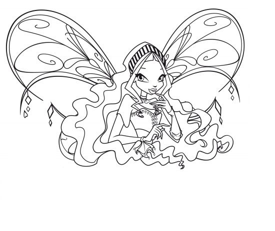 Winx Layla Coloring Pages Love Coloring Pages Coloring Pages Diamond Drawing