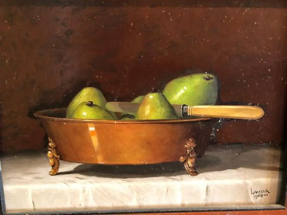 """G. Linister Smith """"Pears"""" 1968"""